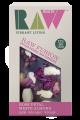 Ciocolata cruda cu petale de trandafir migdale albe, 72% continut cacao 30g